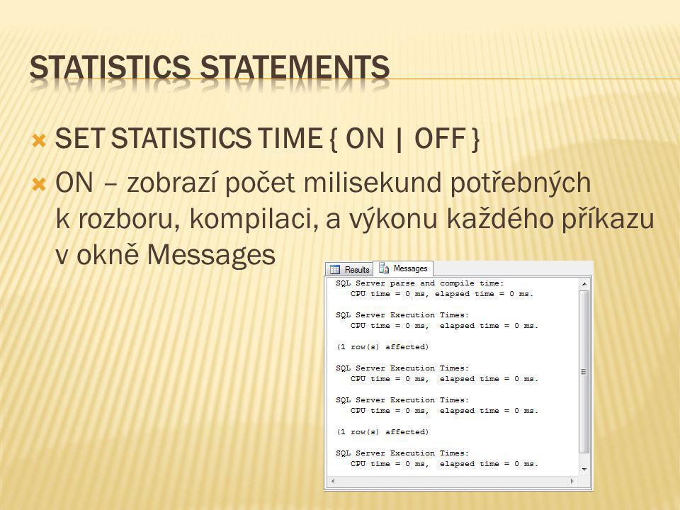 Statistics statements