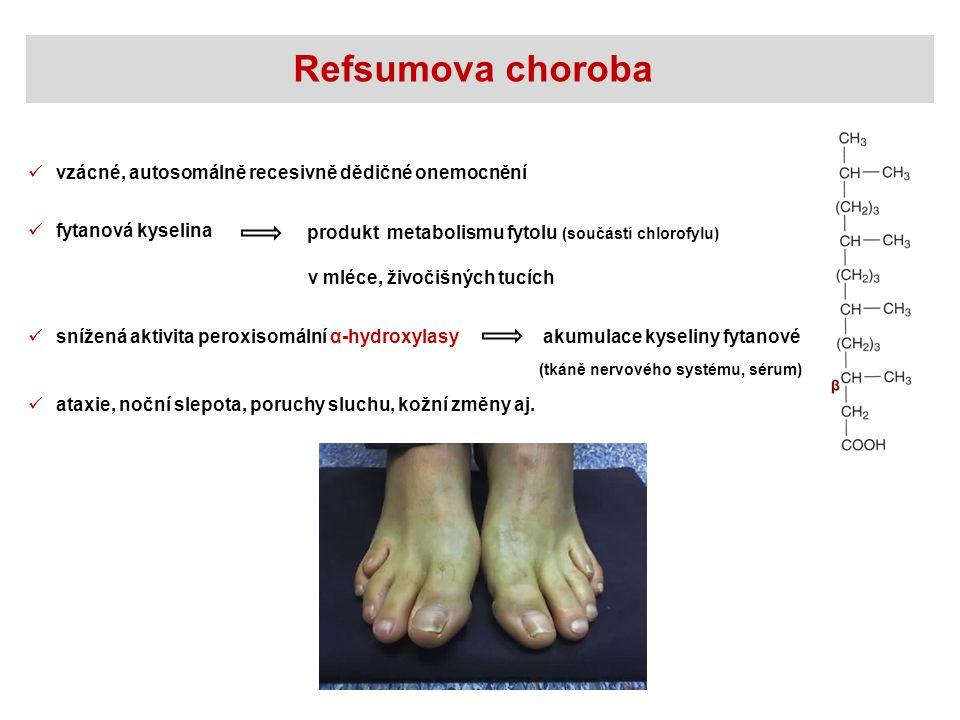 Refsumova choroba vzácné, autosomálně recesivně dědičné onemocnění