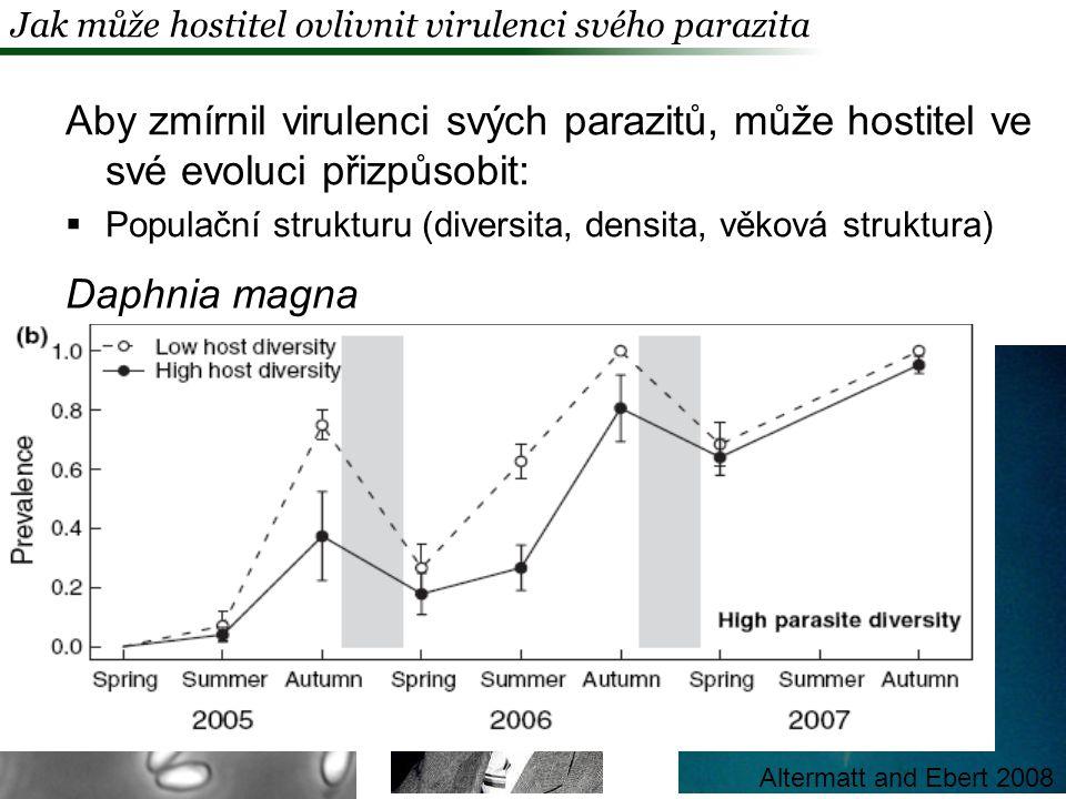 Jak může hostitel ovlivnit virulenci svého parazita