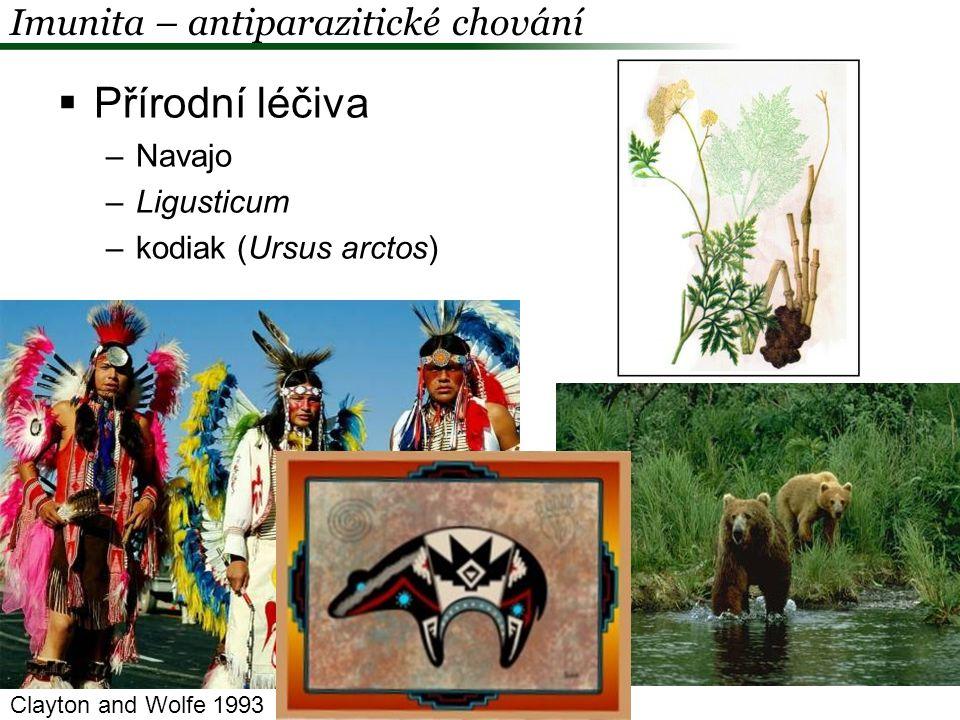 Přírodní léčiva Imunita – antiparazitické chování Navajo Ligusticum