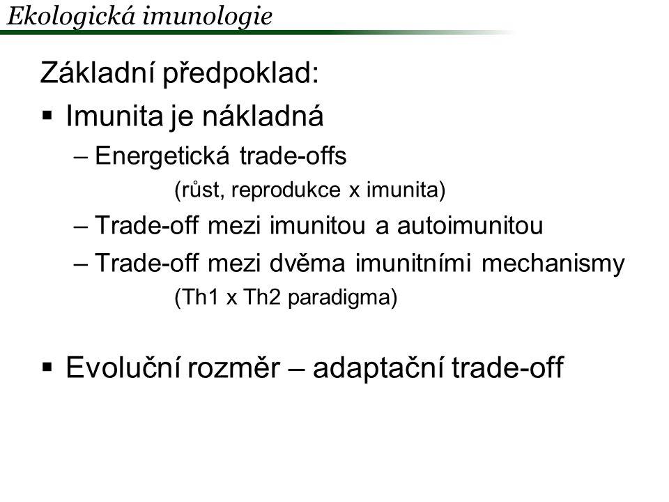 Evoluční rozměr – adaptační trade-off