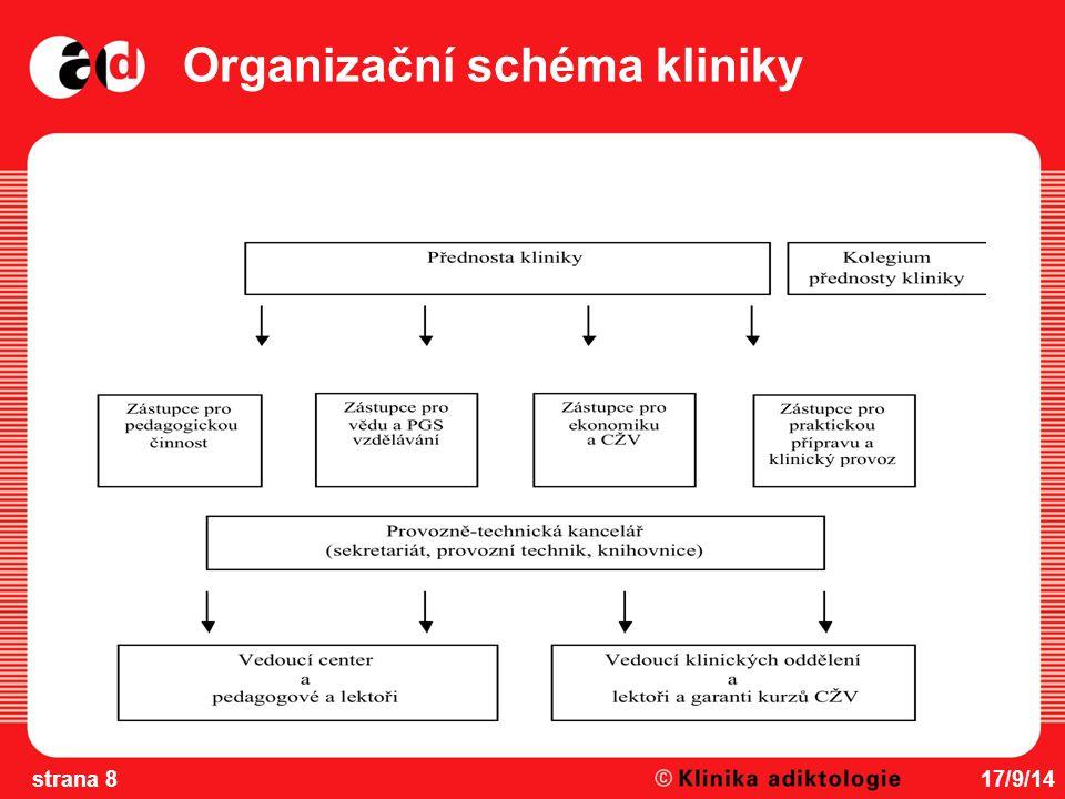 Organizační schéma kliniky