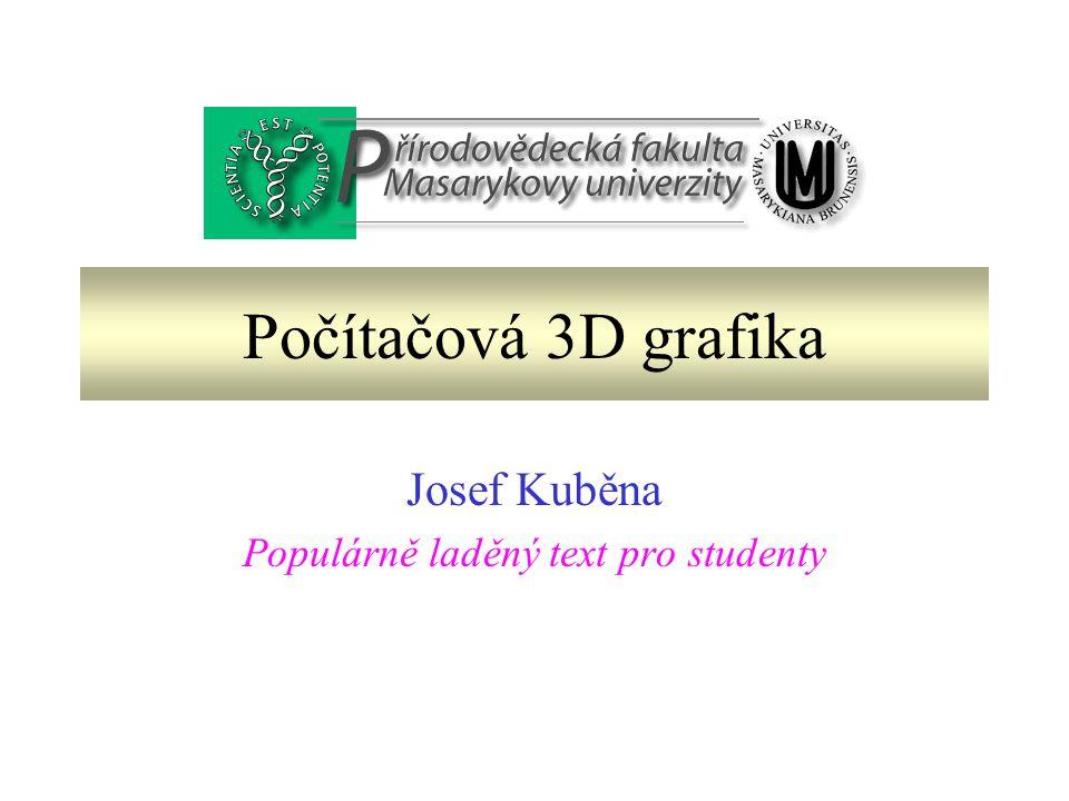 Josef Kuběna Populárně laděný text pro studenty
