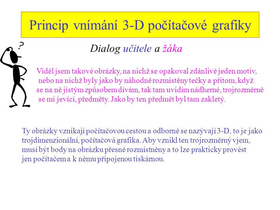 Princip vnímání 3-D počítačové grafiky