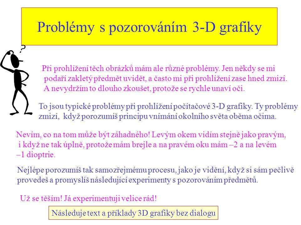 Problémy s pozorováním 3-D grafiky