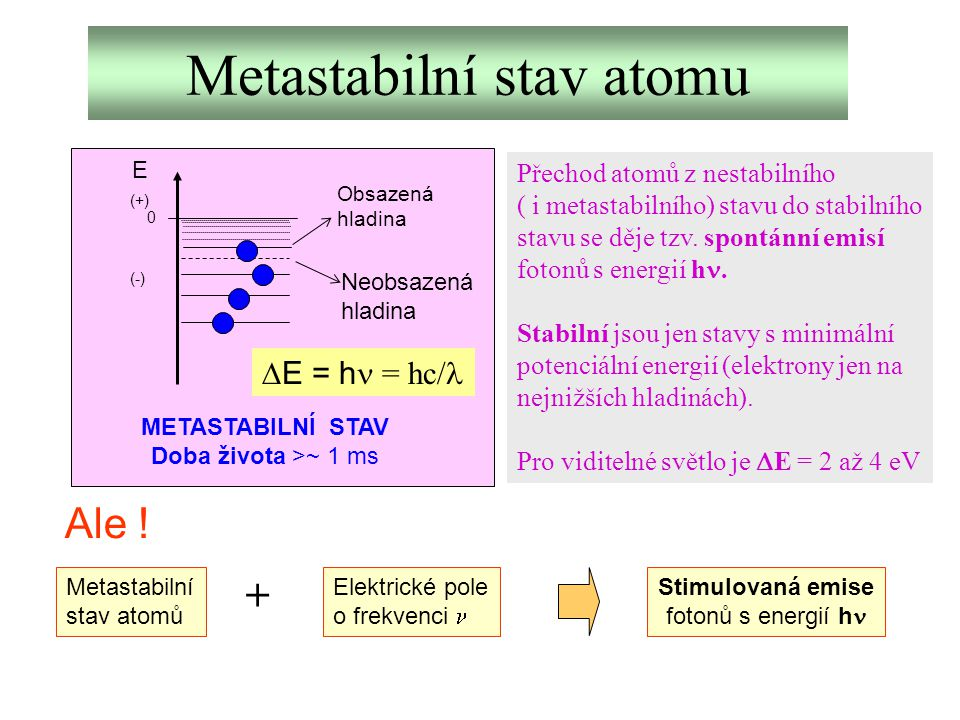 Metastabilní stav atomu