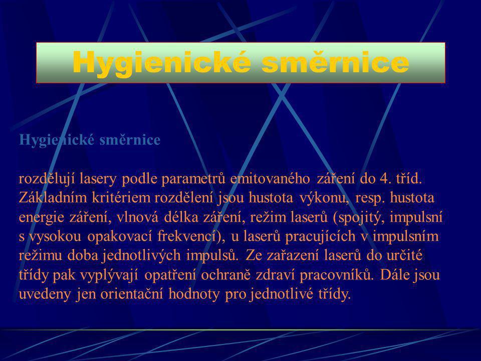 Hygienické směrnice Hygienické směrnice