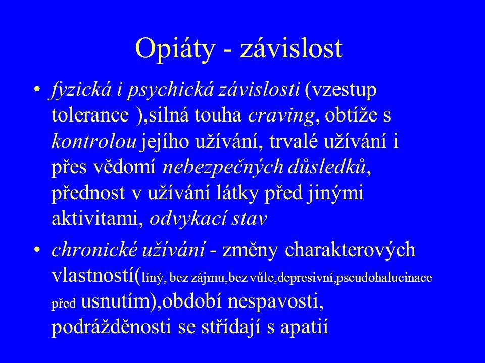 Opiáty - závislost