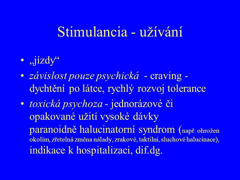"""Stimulancia - užívání """"jízdy"""