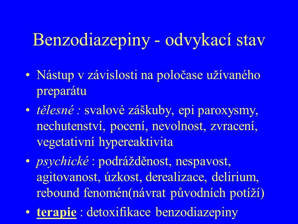 Benzodiazepiny - odvykací stav