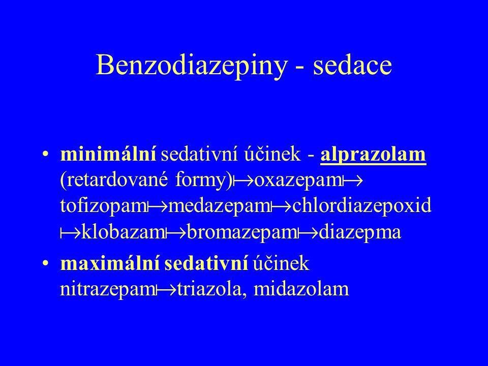 Benzodiazepiny - sedace