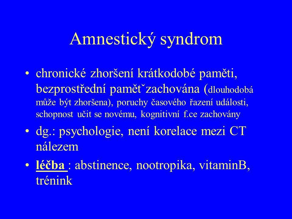 Amnestický syndrom
