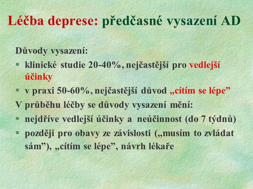 Léčba deprese: předčasné vysazení AD