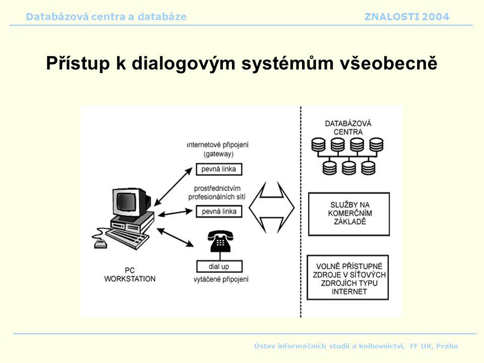 Přístup k dialogovým systémům všeobecně