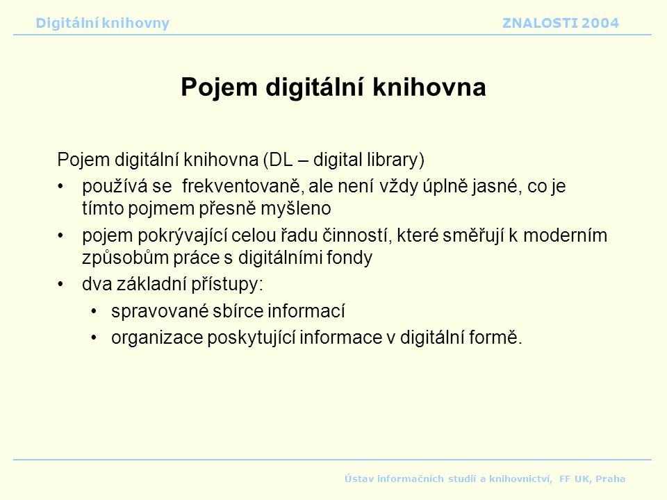 Pojem digitální knihovna