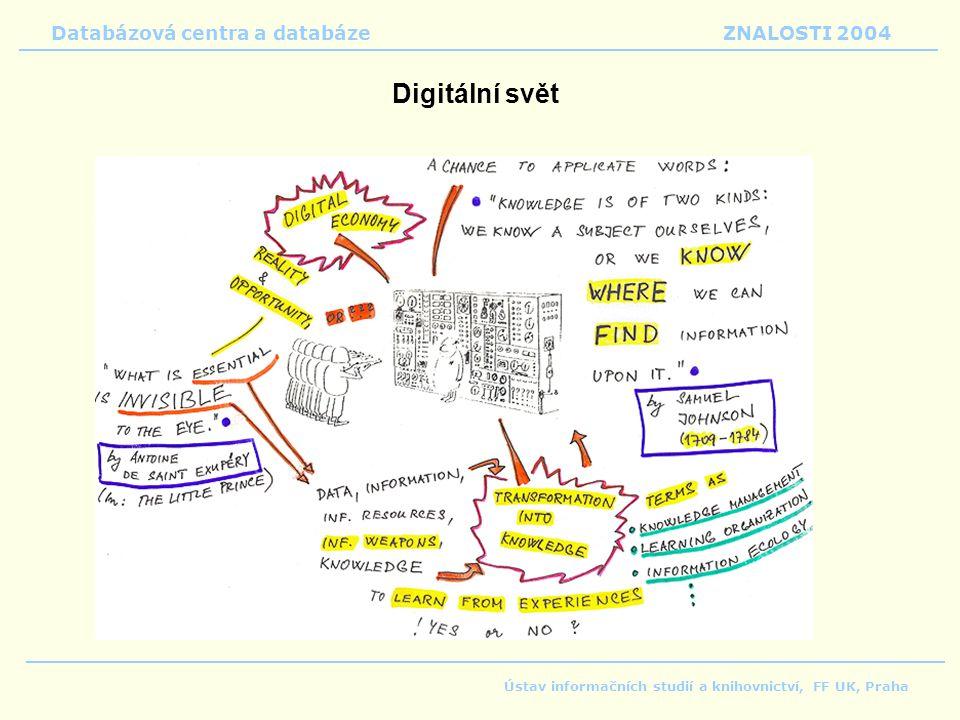 Digitální svět Databázová centra a databáze ZNALOSTI 2004