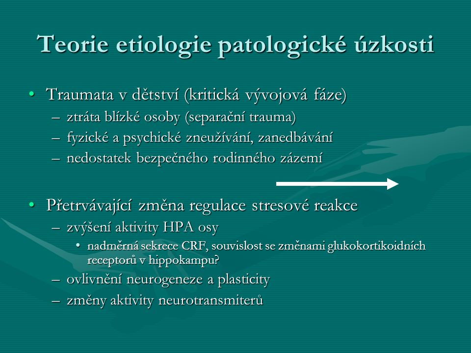 Teorie etiologie patologické úzkosti