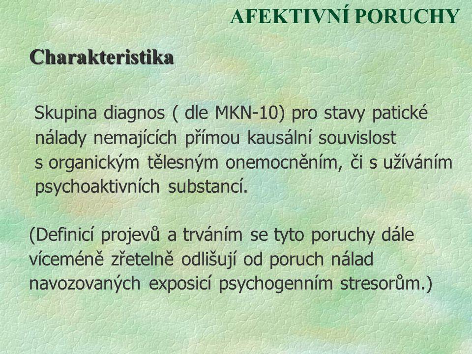 Skupina diagnos ( dle MKN-10) pro stavy patické