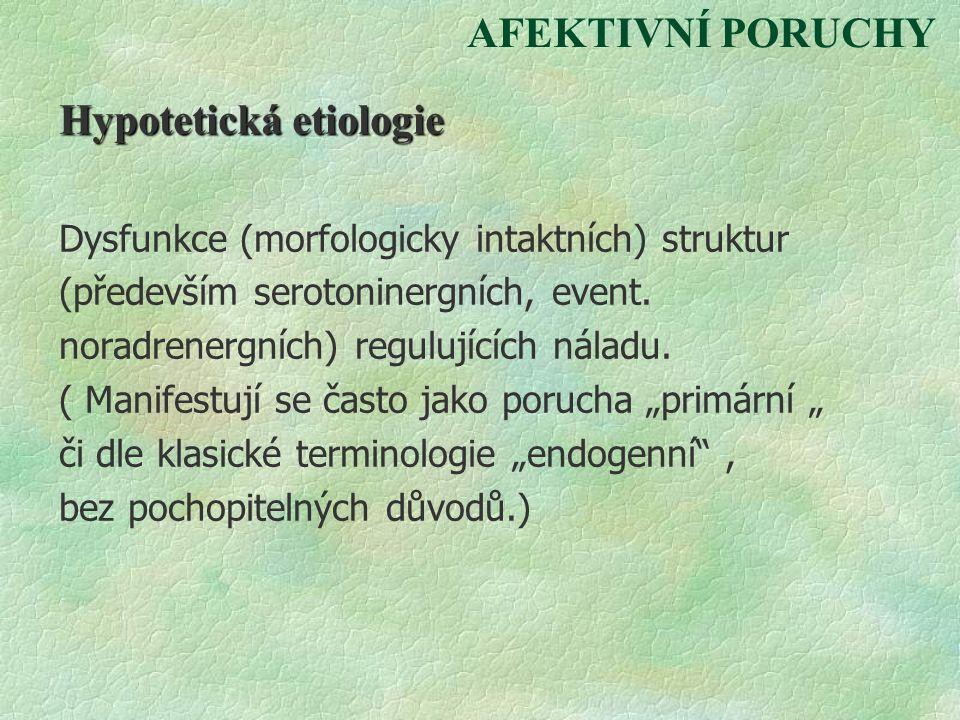 Hypotetická etiologie