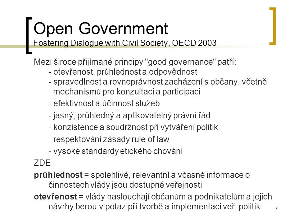 Open Government Fostering Dialogue with Civil Society, OECD 2003