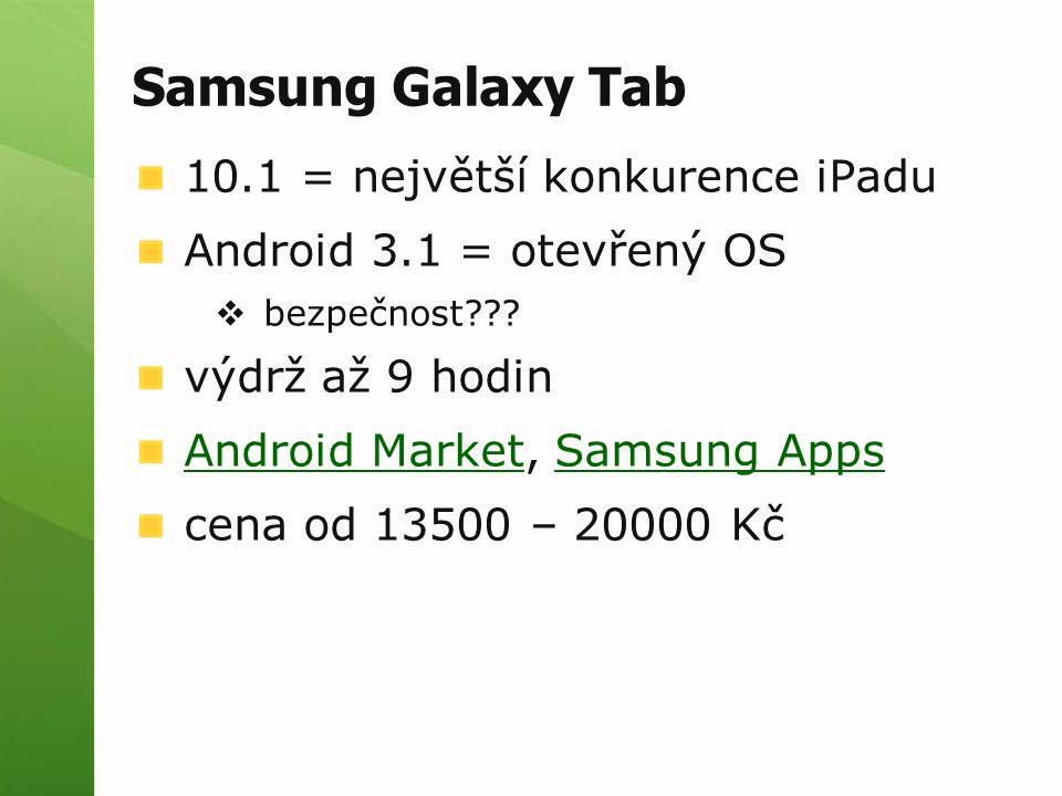 Samsung Galaxy Tab 10.1 = největší konkurence iPadu
