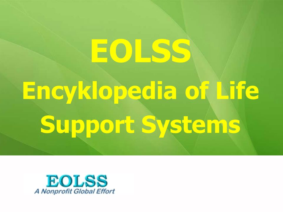 EOLSS Encyklopedia of Life Support Systems