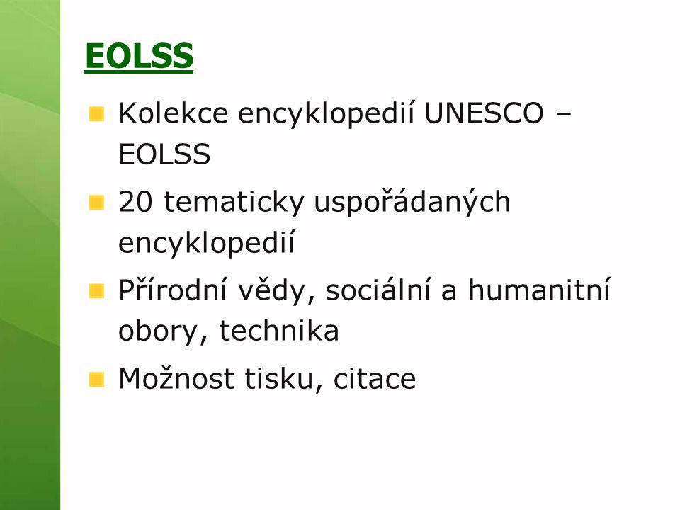 EOLSS Kolekce encyklopedií UNESCO – EOLSS