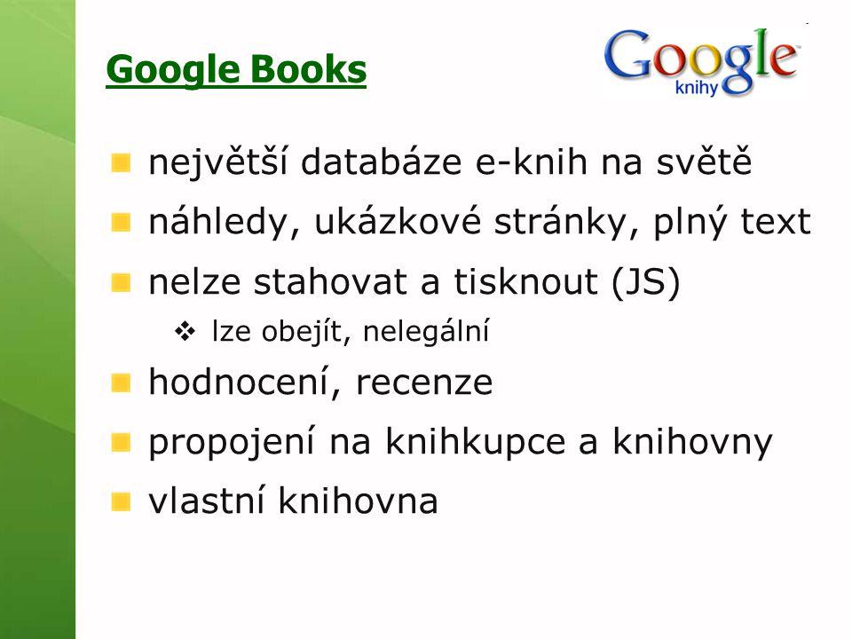 Google Books největší databáze e-knih na světě