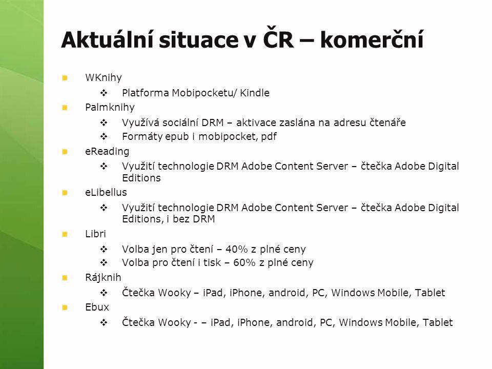 Aktuální situace v ČR – komerční