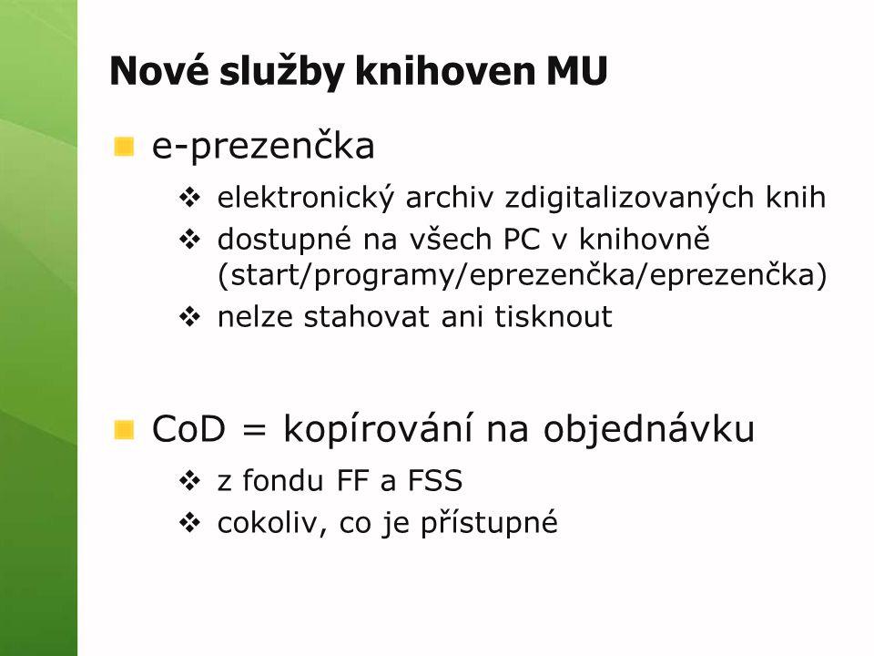 Nové služby knihoven MU