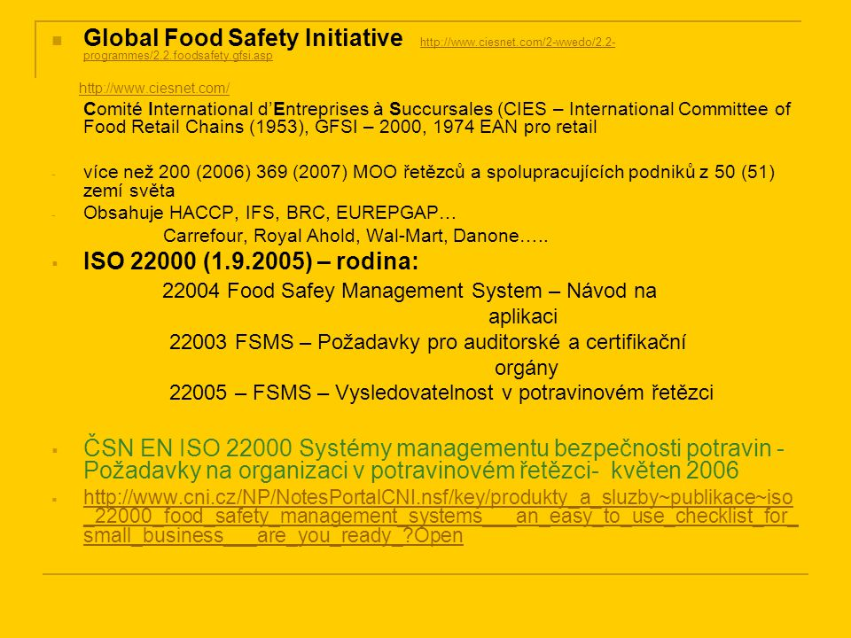 22004 Food Safey Management System – Návod na