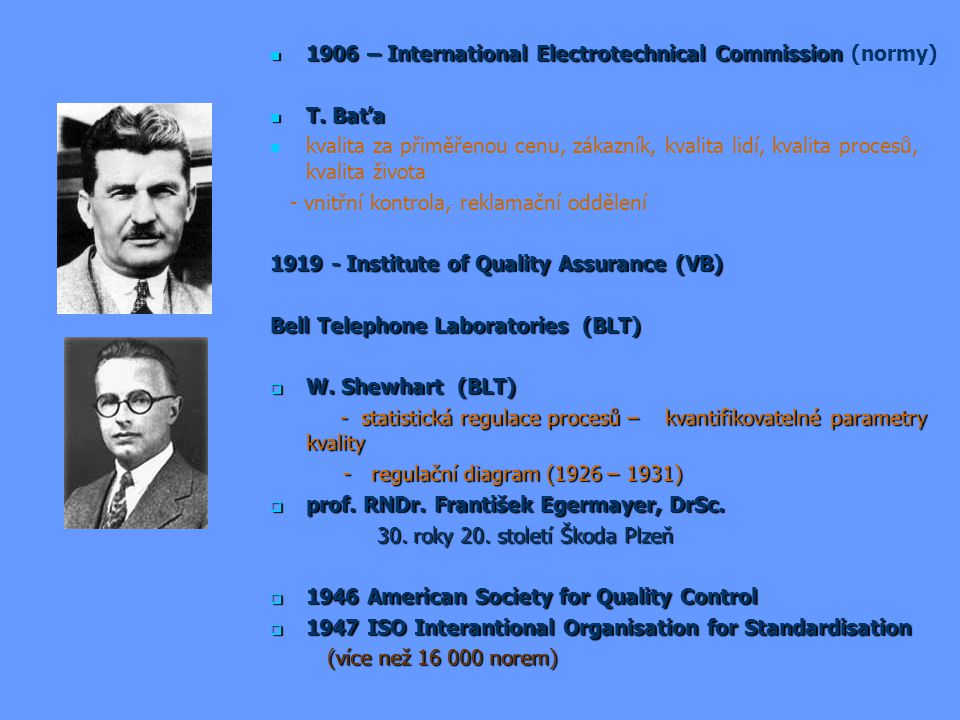 1906 – International Electrotechnical Commission (normy)