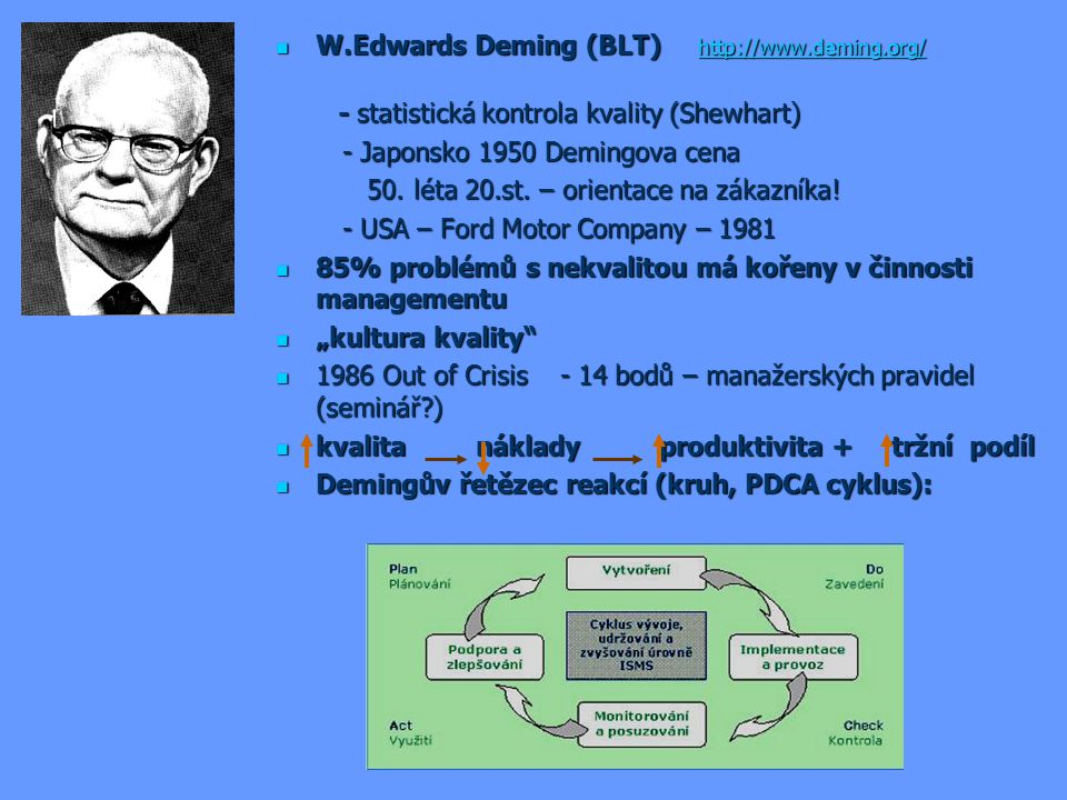 W.Edwards Deming (BLT) http://www.deming.org/