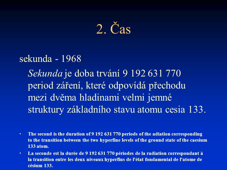 2. Čas sekunda - 1968.