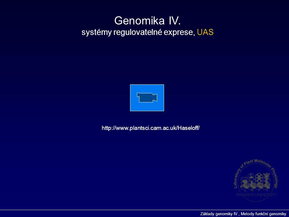 systémy regulovatelné exprese, UAS