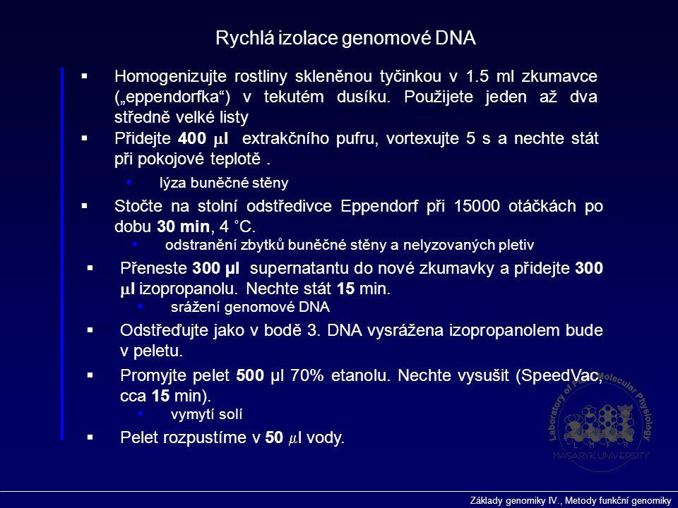 Rychlá izolace genomové DNA