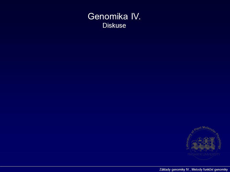 Genomika IV. Diskuse