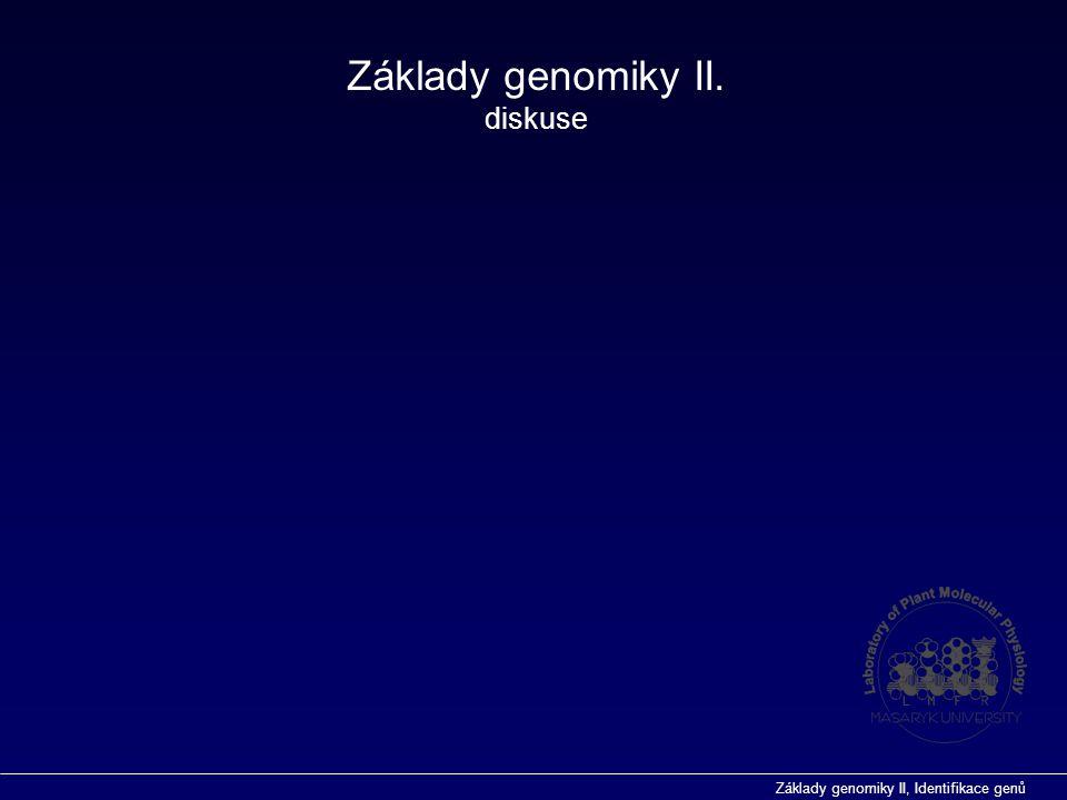 Základy genomiky II. diskuse