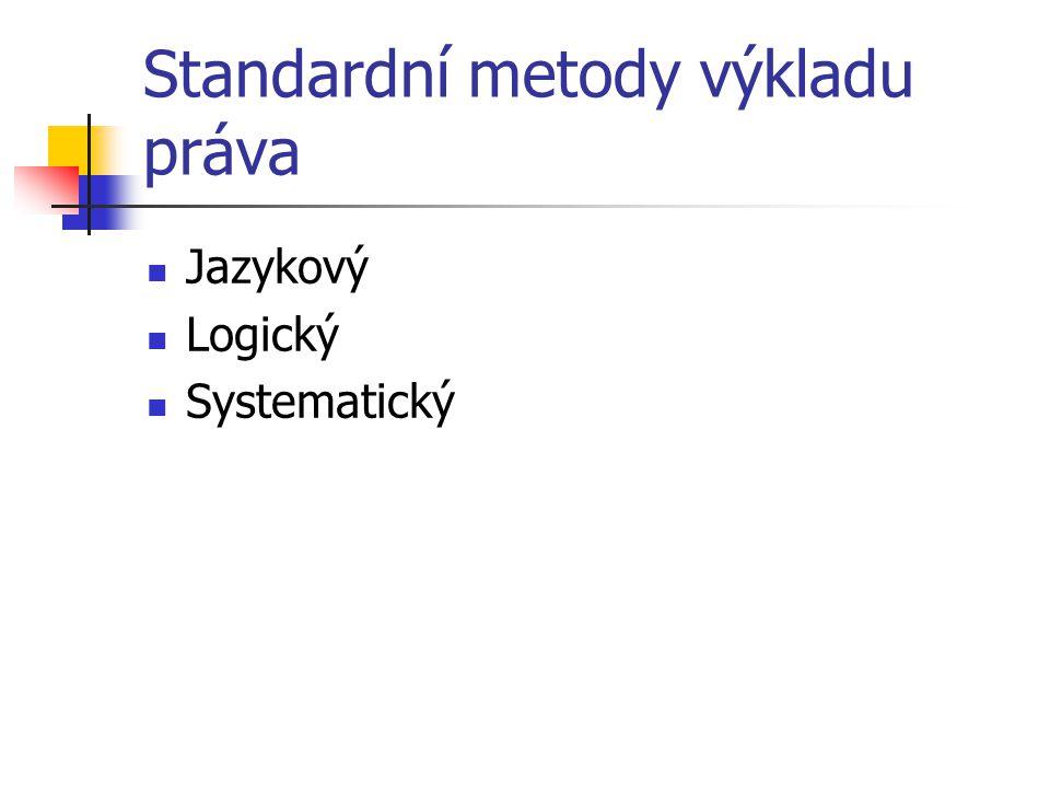 Standardní metody výkladu práva