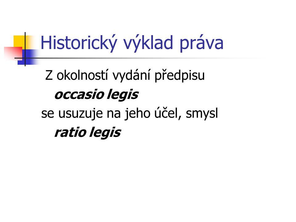 Historický výklad práva