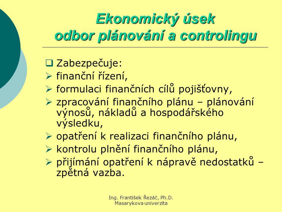 Ekonomický úsek odbor plánování a controlingu