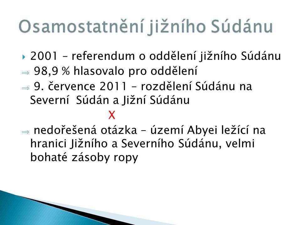 Osamostatnění jižního Súdánu