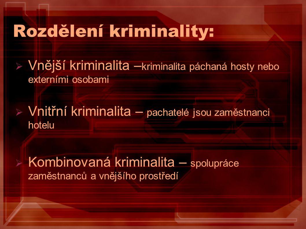 Rozdělení kriminality: