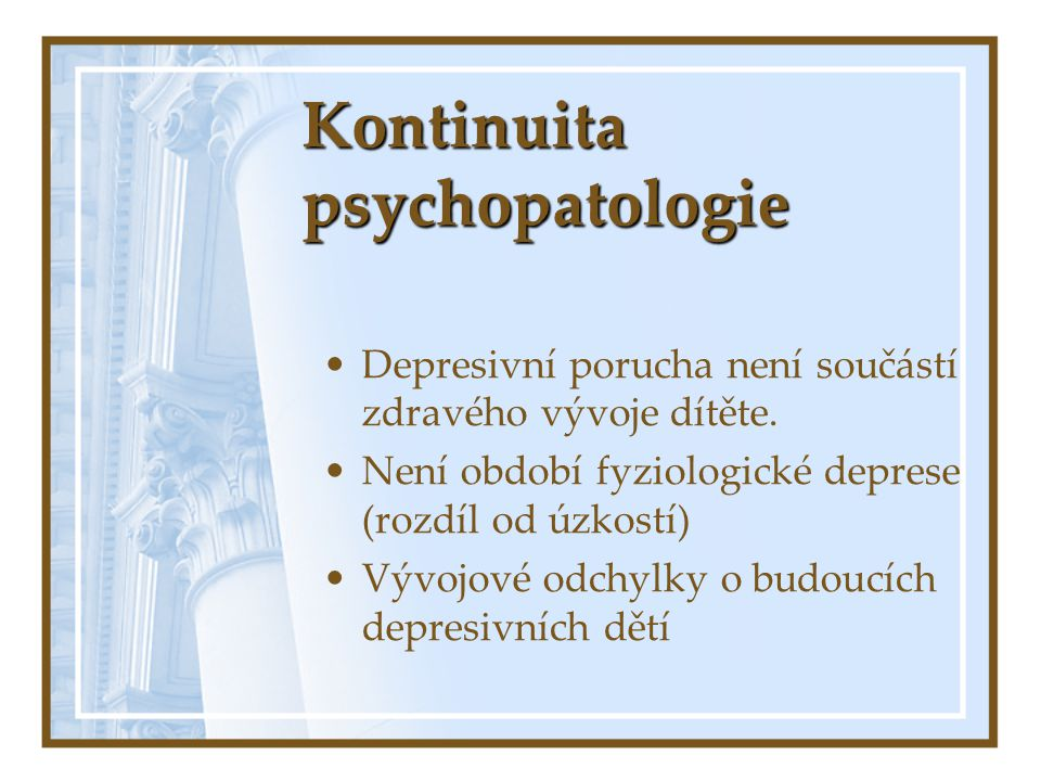 Kontinuita psychopatologie