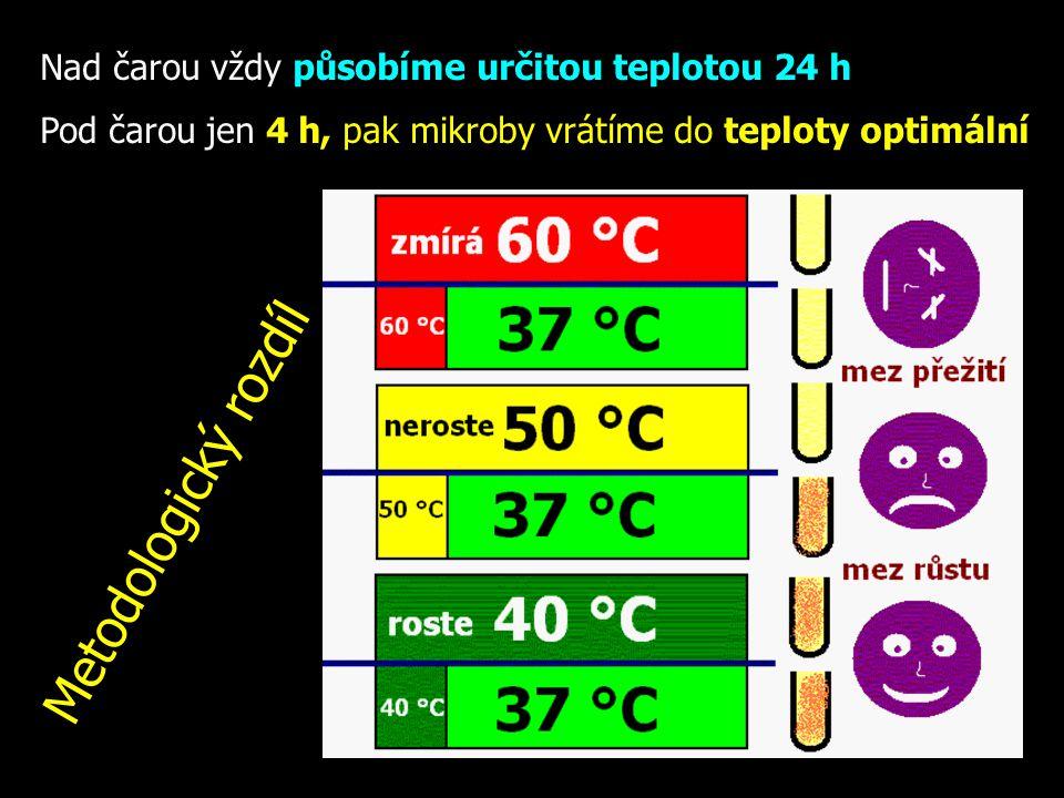 Metodologický rozdíl Nad čarou vždy působíme určitou teplotou 24 h