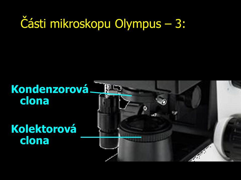 Části mikroskopu Olympus – 3: