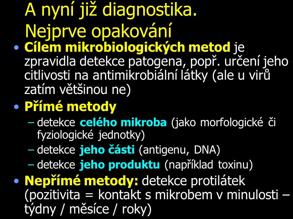 A nyní již diagnostika. Nejprve opakování