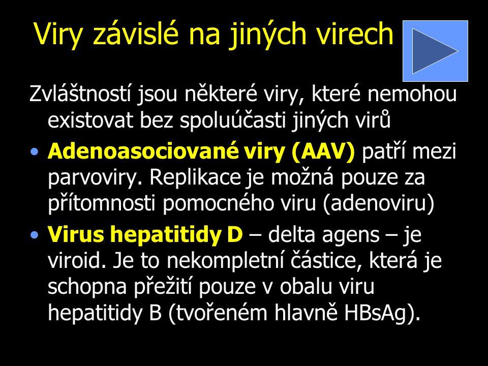 Viry závislé na jiných virech
