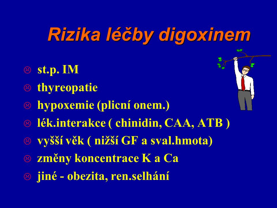 Rizika léčby digoxinem