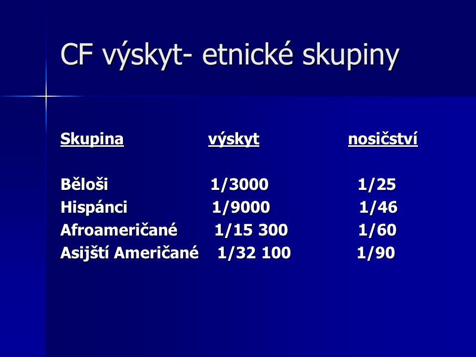 CF výskyt- etnické skupiny